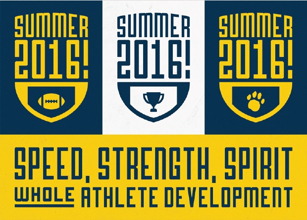 Summer Camp 2016 Promo Card - Athlete Development Program