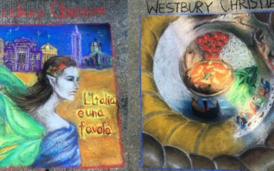 WCS students take first, second in Festa Italiana sidewalk art competition