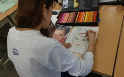 Art students create special gifts for disadvantaged children