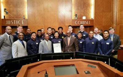Mayor Turner honors Wildcat basketball team during City Hall ceremony