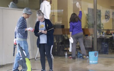 "Volunteers give West Campus exterior ""face lift"" with cleaning day"